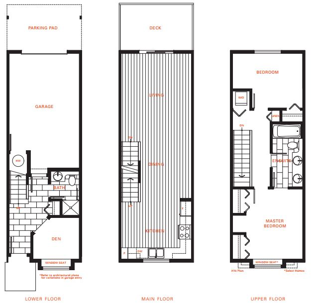 New townhome plan released at surrey s ashbury hill for Condo plans with garage