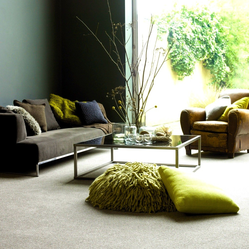 Going green how to incorporate the colour of the year in - Grey and emerald green living room ...